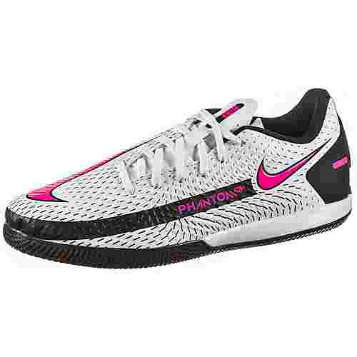 Nike JR PHANTOM GT ACADEMY IC Fußballschuhe Kinder white-pink blast-black