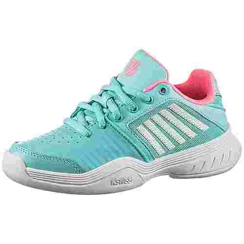 K-Swiss Court Express Carpet Tennisschuhe Kinder blue-soft neon pink-white