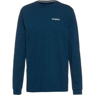 Patagonia Line Logo Ridge Langarmshirt Herren crater blue
