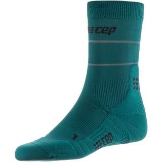 CEP Reflective Mid Cut Laufsocken Herren green