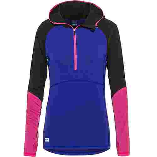 Mons Royale Merino Bella Tech Funktionsshirt Damen ultra blue / black