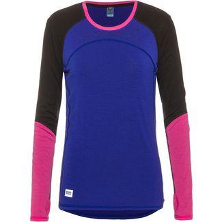 Mons Royale Merino Bella Tech Langarmshirt Damen ultra blue / black