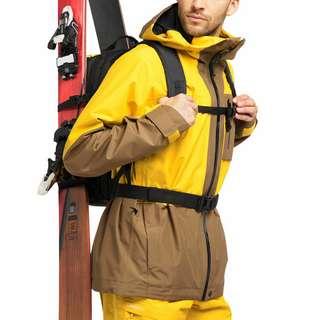 Haglöfs Lumi Jacket Hardshelljacke Herren Pumpkin Yellow/Teak Brown