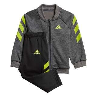 adidas Mini Me Trainingsanzug Trainingsanzug Kinder Dark Grey Heather / Semi Solar Slime