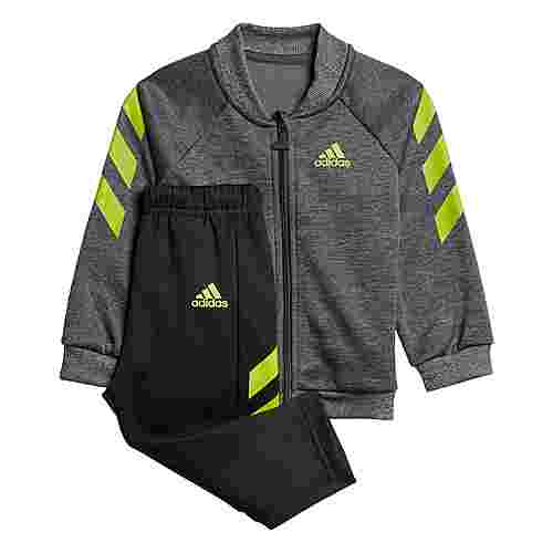adidas Mini Me Trainingsanzug Trainingsanzug Kinder Dark Grey Heather / Semi Solar Slime