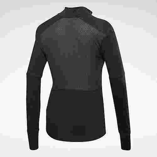 Reebok Running Essentials Quarter-Zip Top Funktionssweatshirt Damen Schwarz