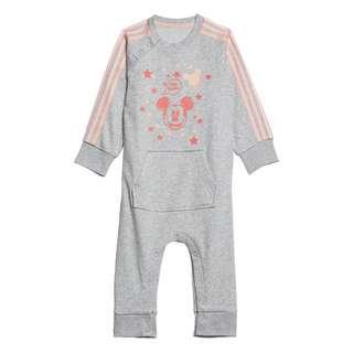 adidas Mickey Mouse Einteiler Trainingsanzug Kinder Light Grey Heather / Haze Coral