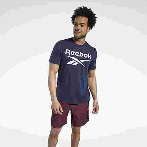 Reebok Workout Ready Supremium Graphic T-Shirt Funktionsshirt Herren Blau