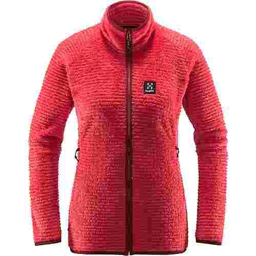Haglöfs Sensum Jacket Fleecejacke Damen Hibiscus Red