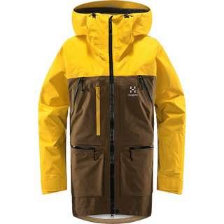 Haglöfs GORE-TEX Vassi GTX Pro Jacket Hardshelljacke Damen Teak Brown/Pumpkin Yellow