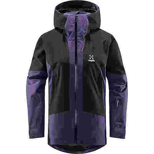 Haglöfs Lumi Jacket Hardshelljacke Damen Purple Rain/True Black