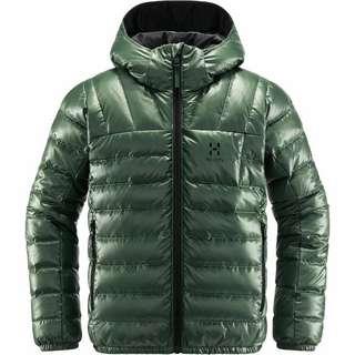 Haglöfs Bivvy Reversible Hood Outdoorjacke Kinder Fjell Green/True Black