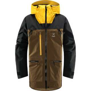 Haglöfs GORE-TEX® Vassi GTX Pro Jacket Hardshelljacke Herren Teak Brown/Pumpkin Yellow