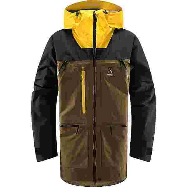 Haglöfs GORE-TEX Vassi GTX Pro Jacket Hardshelljacke Herren Teak Brown/Pumpkin Yellow