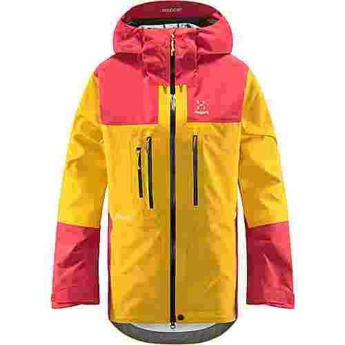 Haglöfs GORE-TEX® Roc Nordic GTX Pro Jacket Hardshelljacke Damen Pumpkin Yellow/Hibiscus Red