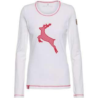 Almgwand GAISLACHALM Sweatshirt Damen weiß-rot