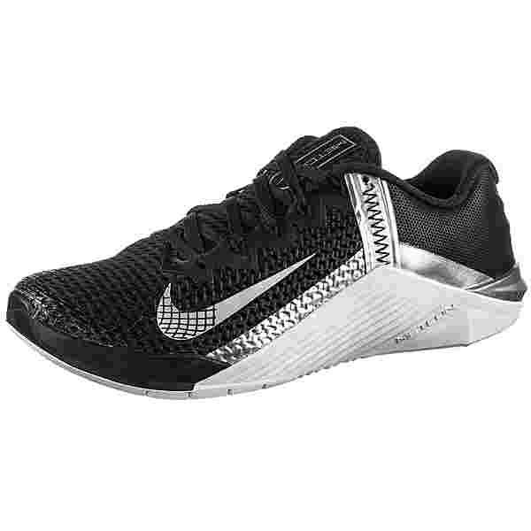 Nike Metcon 6 Fitnessschuhe Damen black-metallic silver