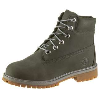 TIMBERLAND 6 Inch Premium Junior Stiefel Kinder dark grey nubuck