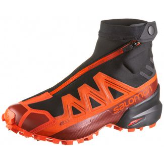 Salomon SNOWSPIKE CSWP Trailrunning Schuhe Herren black-racing red-red dahlia