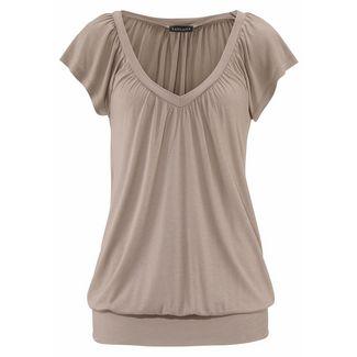 Lascana V-Shirt Damen taupe