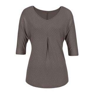 Lascana T-Shirt Damen taupe-gepunktet