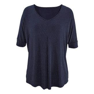 Lascana T-Shirt Damen navy-gepunktet