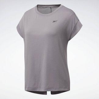 Reebok Workout Ready Supremium Detail T-Shirt Funktionsshirt Damen Grau