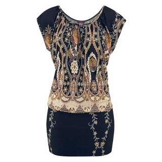 Buffalo Longshirt Damen schwarz-bedruckt
