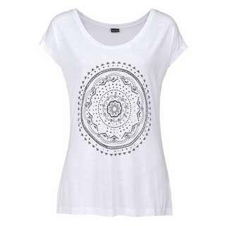 Lascana T-Shirt Damen weiß