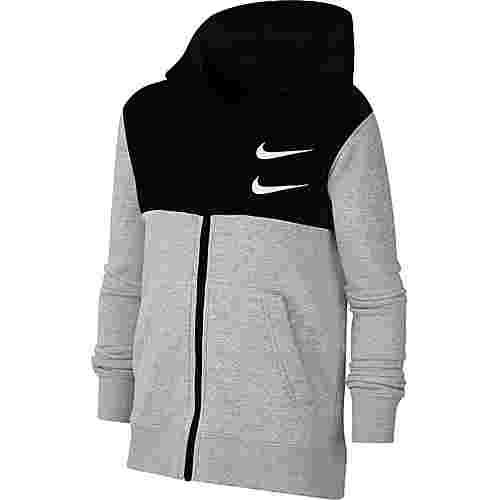 Nike Kapuzenjacke Kinder dk grey heather-black-white