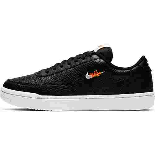 Nike Court Vintage Premium Sneaker Damen black-white-total orange