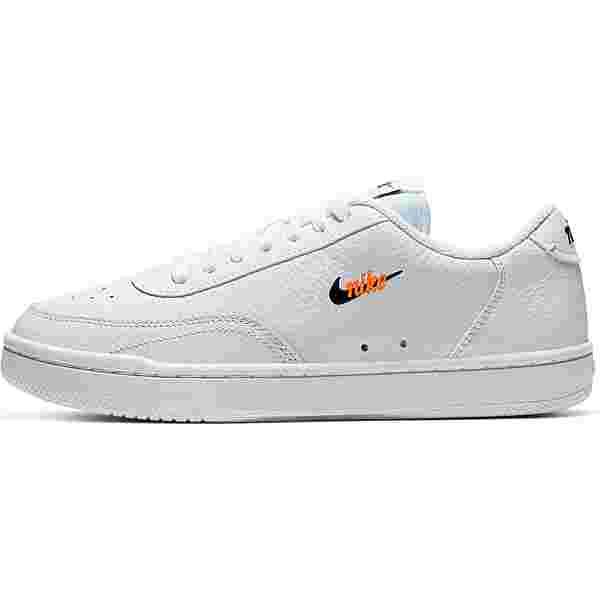 Nike Court Vintage Premium Sneaker Damen white-black-total orange