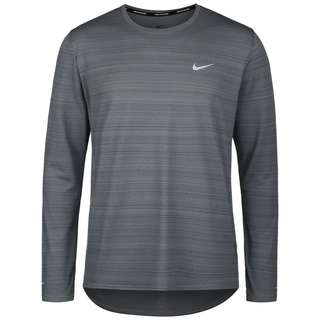Nike Dry Fit Miler Funktionsshirt Herren smoke grey-reflective silv
