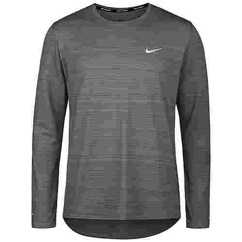 Nike Dry Fit Miler Funktionsshirt Herren smoke grey-reflective silv