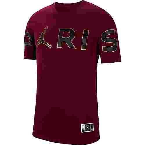 Nike Paris Saint-Germain/Jordan T-Shirt Herren bordeaux