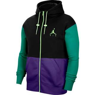 Nike Jumpman Air Sweatjacke Herren black-court purple-barely volt
