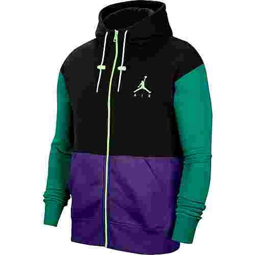 Nike Jumpman Air Sweatjacke Herren black-court purple-barely volt
