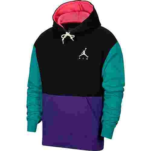 Nike Jumpman Air Hoodie Herren black-court purple-barely volt