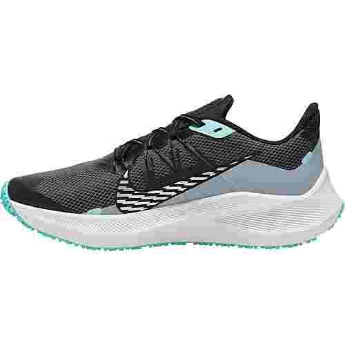 Nike Winflo 7 Shield Laufschuhe Damen obsidian mist-chrome-black-aurora green