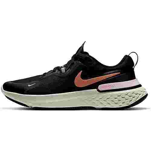 Nike React Miler Laufschuhe Damen black-metallic copper-lt arctic pink
