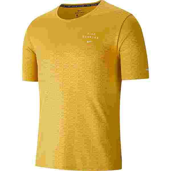 Nike Miler Funktionsshirt Herren ochre-reflective silv