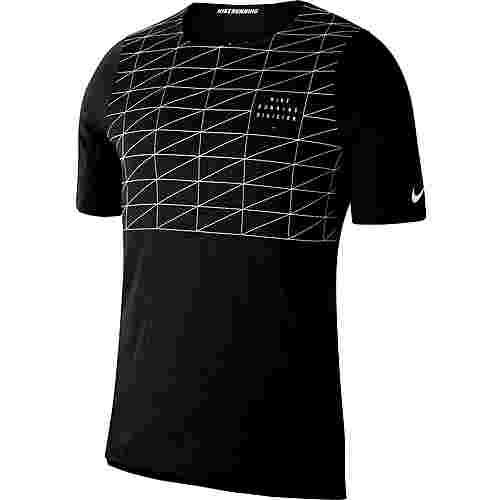 Nike Rise  365 Funktionsshirt Herren black-reflective silv