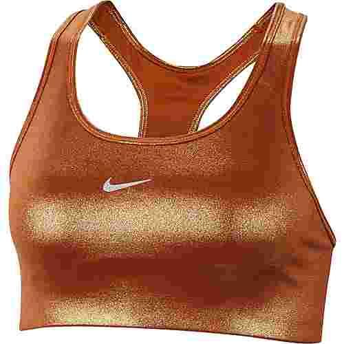 Nike Swoosh BH Damen gold-tawny-metallic gold