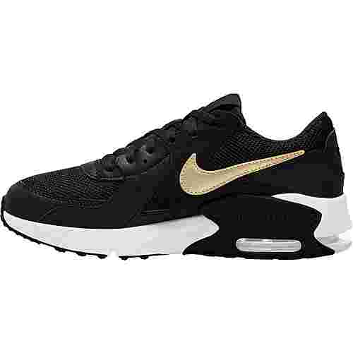 Nike Air Max Excee Sneaker Kinder black-mtlc gold star-white