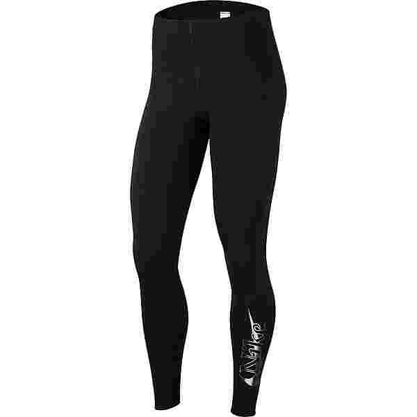 Nike NSW Tights Damen black-black-metallic silver
