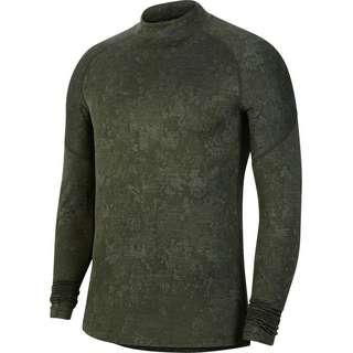 Nike Mock Utility Warm Funktionsshirt Herren sequoia-celadon-black