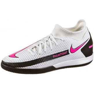 Nike PHANTOM GT ACADEMY DF IC Fußballschuhe white-pink blast-black