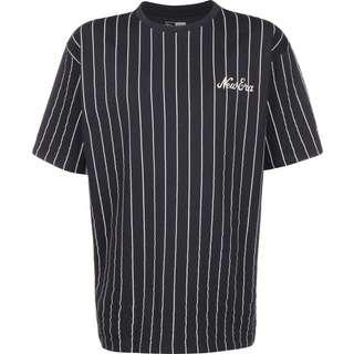 New Era Pinstripe Oversized T-Shirt Herren blau/gestreift