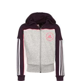 adidas BOLD FZ HD Sweatjacke Kinder medium grey heather/noble purple/signal pink
