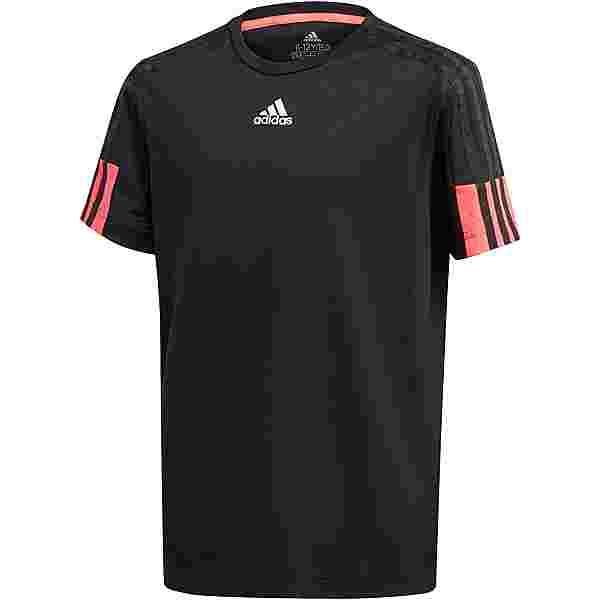 adidas AEROREADY Funktionsshirt Kinder black/signal pink